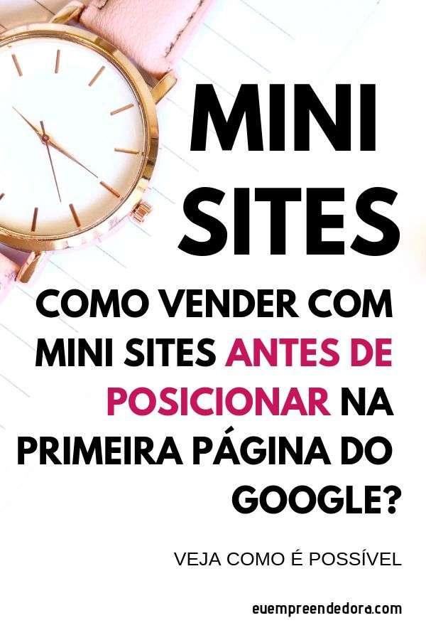 como vender com mini site